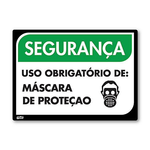 a188b0dc40c96 Sinal PVC Máscara de Proteção - Sodimac
