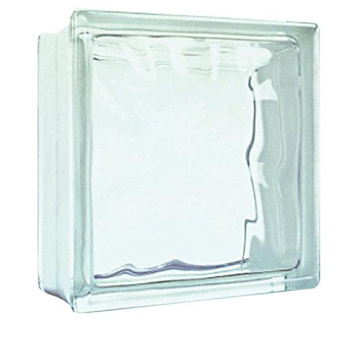 Bloco De Vidro Ondulado Transparente 19x19x8cm Sodimac -> Tijolo De Vidro Marrom