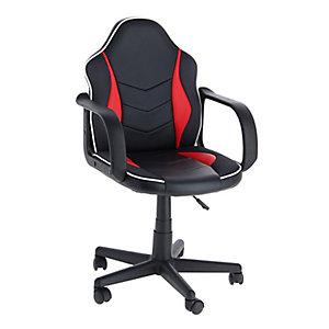 Cadeira Nitro de Escritório Preto e Vermelho