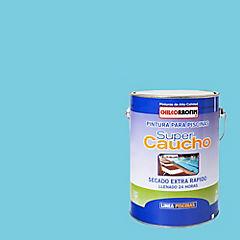 Pintura Piscina Super Caucho 1 galón Celeste