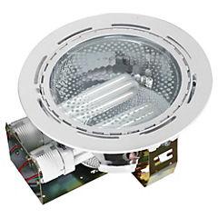 Foco circular embutir 2 luces blanco