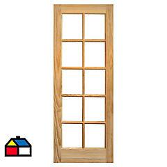 Puerta vidriada 75x200 cm Rapel