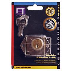 Cerradura para mueble con 2 llaves