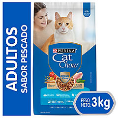 Cat chow adultos delicias de pescado con defense 3 kg