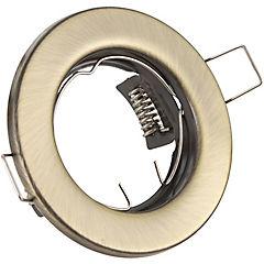 Foco circular fijo 1 luz bronceado