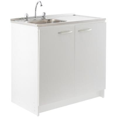 Kit mueble para lavaplatos 88x80x50 cm blanco for Sodimac banos precios