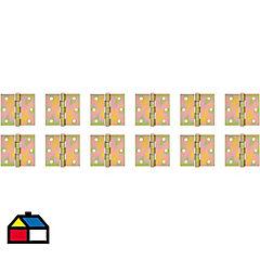 Pack 12 bisagras retén 3x3