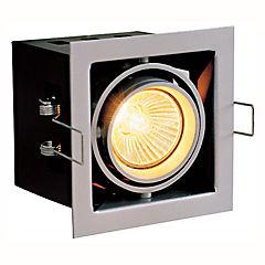 Foco Cuadrado Orientable 1 luz Plateado