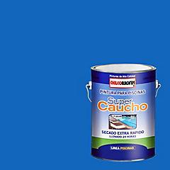 Pintura Super Caucho 1 galón Azul Tahiti