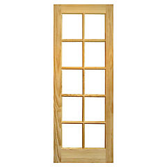 Puerta vidriada pino Rapel 70x210 cm