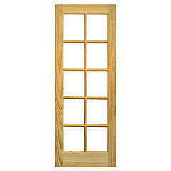 Puerta vidriada pino Rapel 75x210 cm