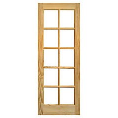 Puerta vidriada 10 vidrios 80x210 cm