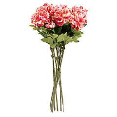 Flor Peonia x 2 Rosada