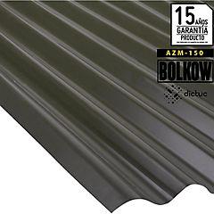 0.35 x 851 x 3660 mm, Plancha zinc acanalada Toledana prepintada negra.