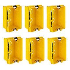 Set de cajas de distribución embutidas 106x71 mm 6 unidades