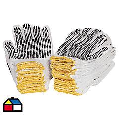 Propack 20 pares guantes pigmentados PVC antideslizante