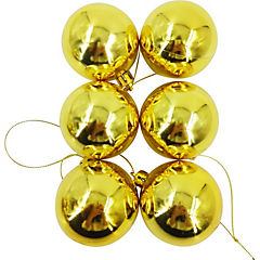 Set 12 esferas brillantes oro 6 cm