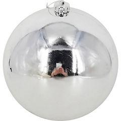 Esfera 15 cm plata brillo x1