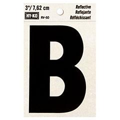 Letra B reflectante 3