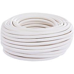 Cordón HO5VV-F 2X0.75mm blanco 20m