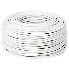 Cordón 2x0,75 mm 100 m metro lineal Blanco