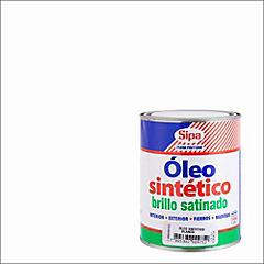 Óleo sintético satinado 1/4 gl Blanco