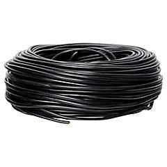 Cordón 3x1 mm 100 m metro lineal Negro