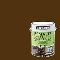 Esmalte Sintético Cereluxe 1 galón Café Moro