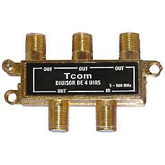 Spliter 4 salidas coaxiales