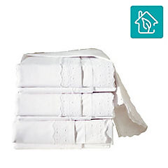 Juego de sábanas  broderie blanco Premium