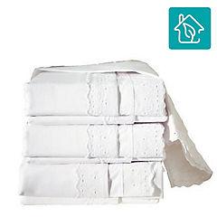 Juego de sábanas 144 hilos 2 plazas blanco