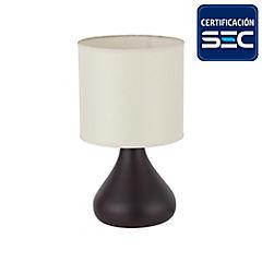 Lámpara sobremesa Pear 1 luz Chocolate