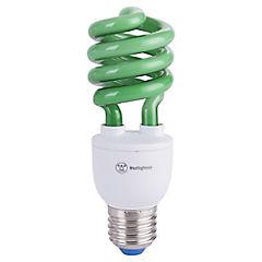 Ampolleta ahorro 13 Watts Luz Verde Espiral