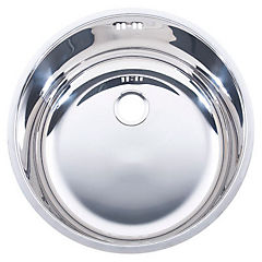 Cubeta lavamanos de embutir redonda 38 x 17 cm