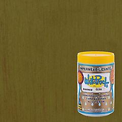 Barniz impermeabilizante semibrillante 1/4 gl Oliva