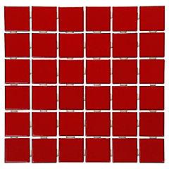 Malla Mosaico 30 x 30 cm Rojo