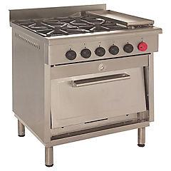 Cocina a gas 4 quemadores 63 litros plateado