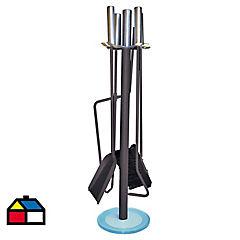 Set herramientas para calefactores a leña 5 piezas