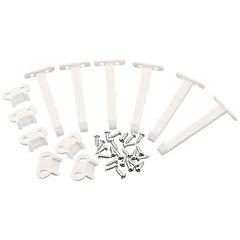 Seguro para cajones plástico 6 unidades Blanco