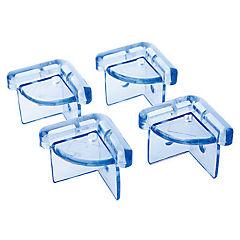Tope de esquina plástico 4 piezas Azul