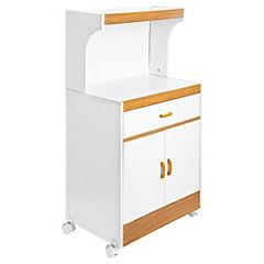 Mueble base para microondas 113x61x39 cm melamina for Mueble auxiliar microondas