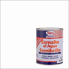 Esmalte al Agua Semibrillo 1/4 galón Blanco
