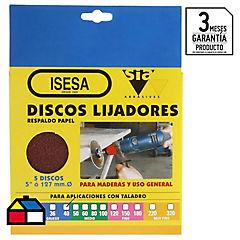 Disco Lija 5x3/16 gr  40 5u..
