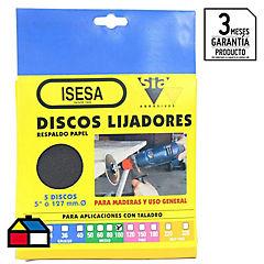 Disco Lija 5x3/16 gr 100 5u.