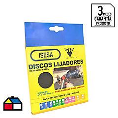 Disco Lija 6x3/16 gr 120 5u.