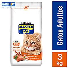 Alimento seco gatos adultos sabor salmón 3 kilos