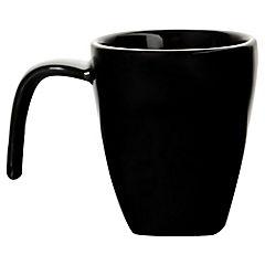 Taza Para Café Cuadrada Negro plano