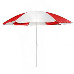 Quitasol metal 180 cm Playa circular rojo/blanco