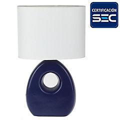 Lámpara sobremesa Doomy 1 luz Azul