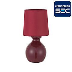Lámpara sobremesa Bloom 1 luz Burdeo